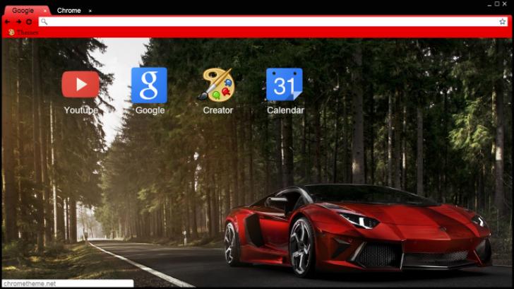 Red Chilled Lamborghini Sesto Elemento Chrome Theme