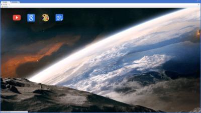 Space Moon Earth Chrome Theme