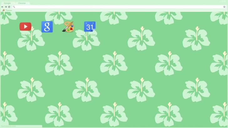 Tropical Flowers Chrome Theme