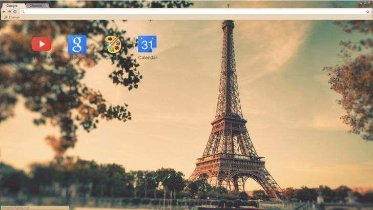 Paris Love Chrome Theme
