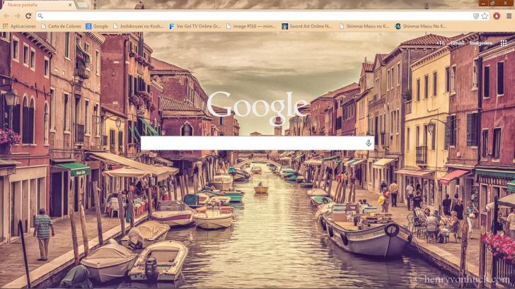 Venetian Sunset Chrome Theme
