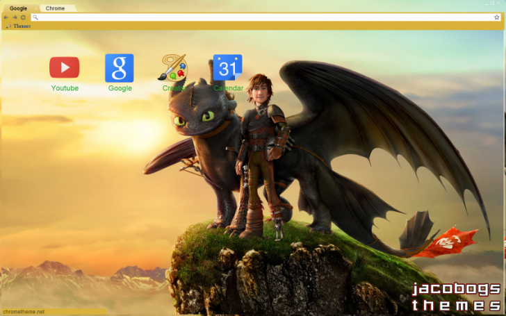 How To Train Your Dragon Chrome Theme