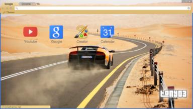 Lamborghini Murciélago Chrome Theme
