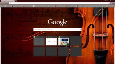 Music Violin Chrome Theme