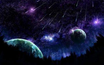 Falling Stars Space Chrome Theme