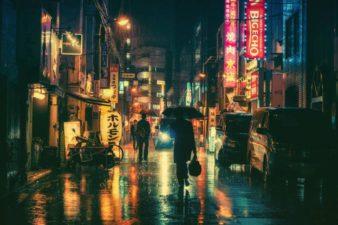 Rainy Tokyo Night Chrome Theme