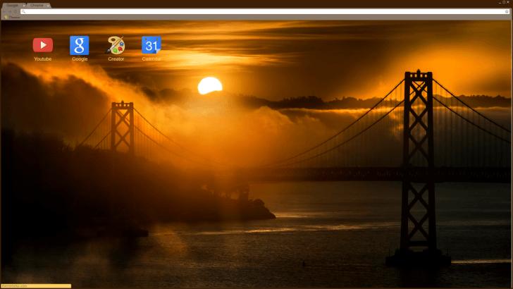 Golden Gate Bridge Chrome Theme
