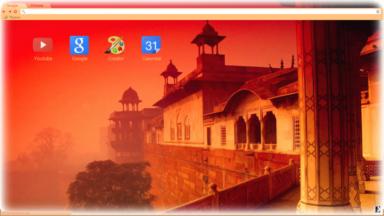 Agra Fort  India Chrome Theme