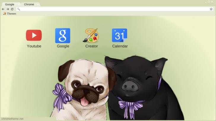 Pig And Pug Chrome Theme