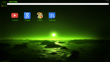 Green Night Chrome Theme