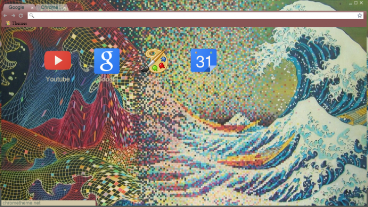 The Great Wave Of Kanagawa Chrome Theme