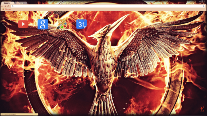 Mockingjay Hunger Games Chrome Theme