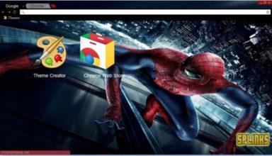 The Amazing Spider Man Chrome Theme
