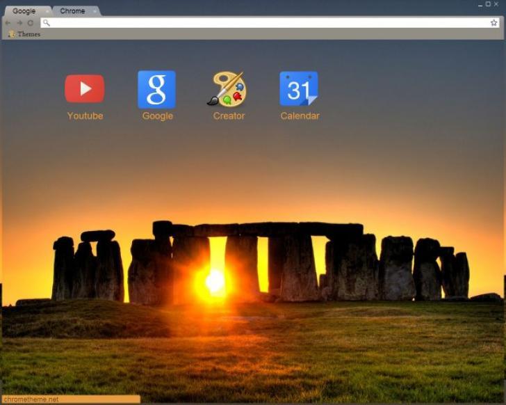 Stonehenge Sunset Chrome Theme