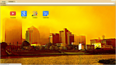 Sunset In City Chrome Theme