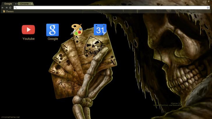 Skeletal Session Chrome Theme