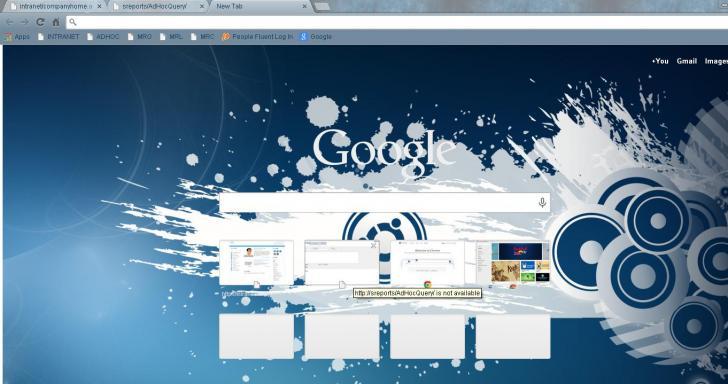 Ubuntu Blue Chrome Theme