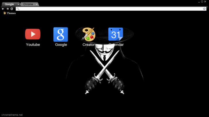 Vendetta With Two Knives Chrome Theme