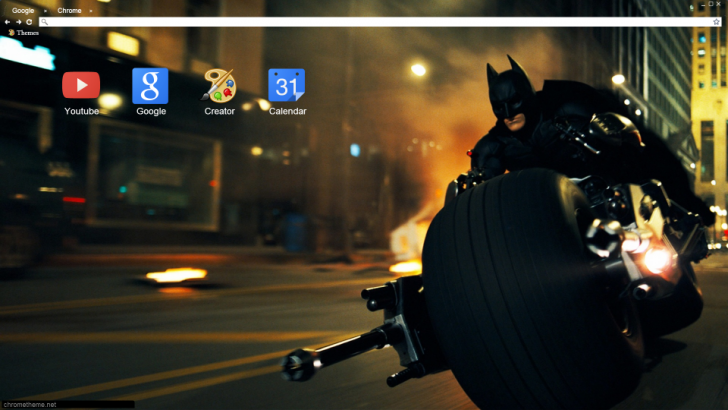 Dark Knight Motorcycle Chrome Theme