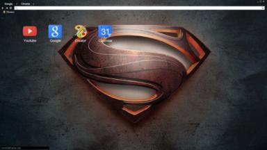 Man of Steel – Logo Chrome Theme