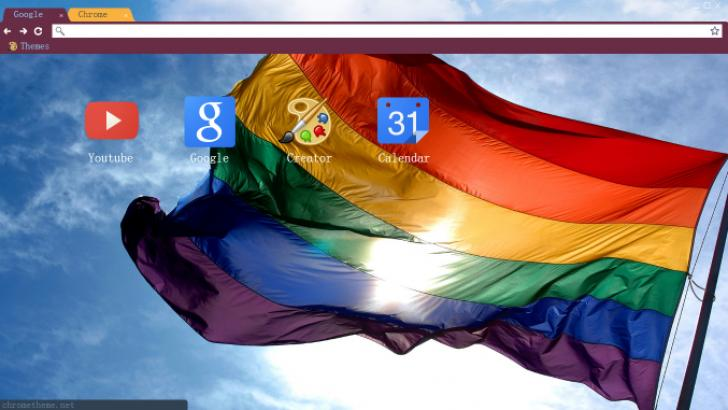 Pride Flag Chrome Theme