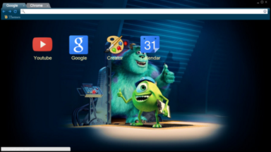 Monsters Inc Chrome Theme