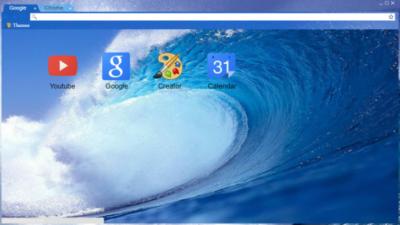 Ocean Wave Chrome Theme