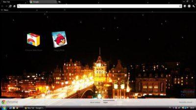 Edinburgh Nighttime theme Chrome Theme