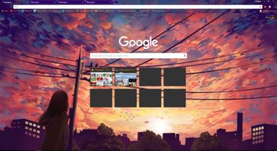 Anime Sunset – 1920×1080 Chrome Theme