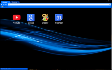 Blue Abstract Chrome Theme