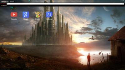 Sci-fi City Chrome Theme
