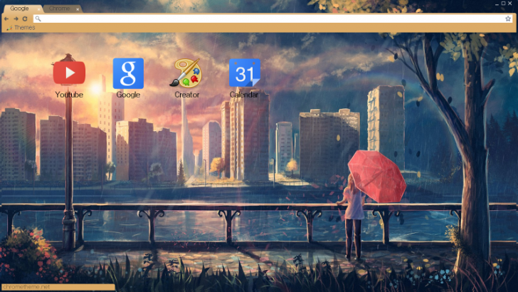 Rainy day 2 Chrome Theme