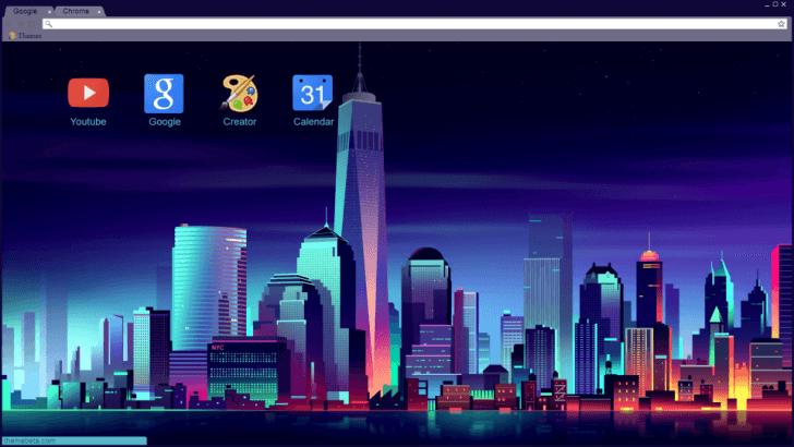 Synthwave Theme Chrome Theme