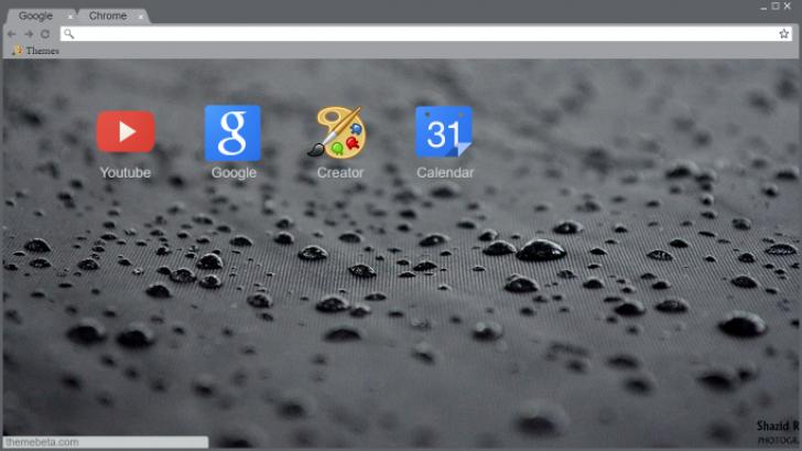 Rain Drops Chrome Theme