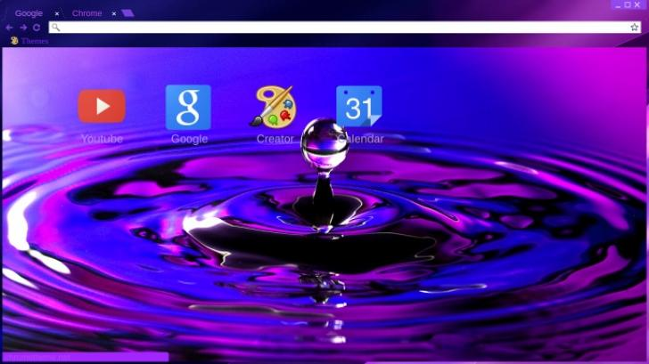 Purple Ocean Chrome Theme