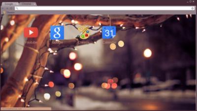 winter lights Chrome Theme