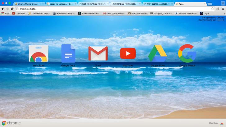 Ocean Chrome Theme