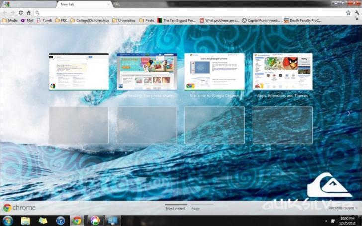 Quicksilver Wave Chrome Theme