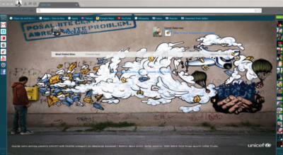 Mail Graffiti Chrome Theme