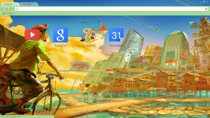 Painting Cities Chrome Theme